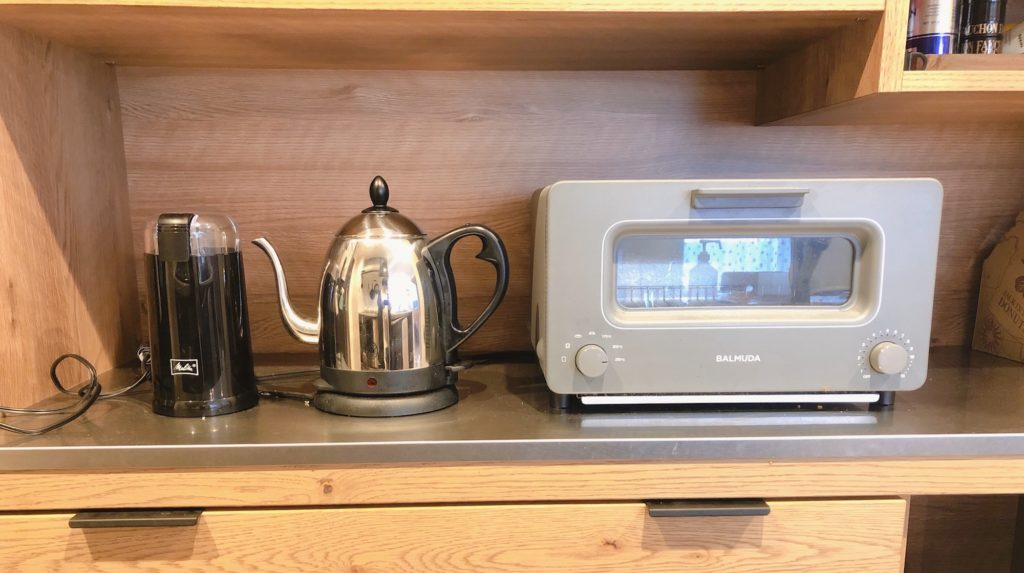 電動コーヒーミルメリタは場所を取らない