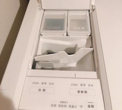 キューブルは洗剤・柔軟剤の自動投入で正確に計ってくれる