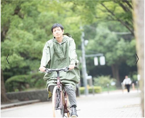 自転車通勤おすすめレインコート カーキ