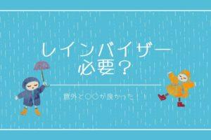 レインバイザーは雨の日の自転車通勤に必要?【検証して分かった】