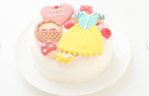 乳不使用の誕生日ケーキ